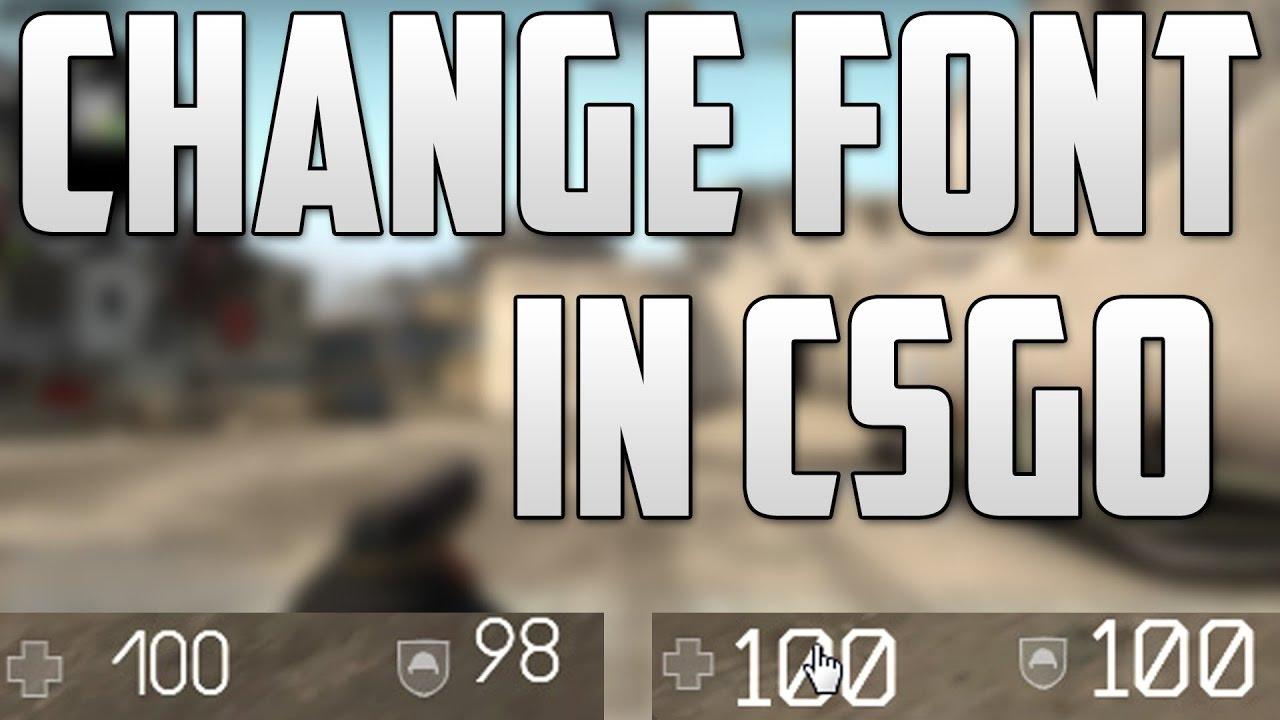 How to Change CSGO Font!
