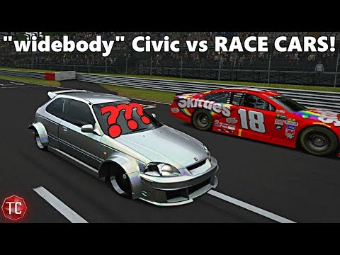 Forza Motorsport 7: WHAT IS THIS!? Civic EK Hatch with HUGE Fender Flares! (Glitch?) Build and Race