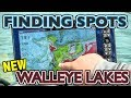 Finding Walleyes on NEW Lakes (Map Study)