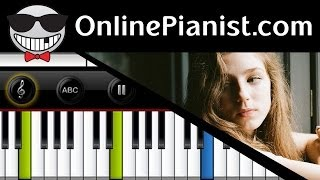 Video Birdy - Wings (Fire Within album) - Piano Tutorial [Easy version] download MP3, 3GP, MP4, WEBM, AVI, FLV Juni 2018