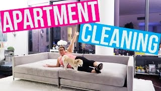 CLEANING MY WHOLE APARTMENT!!