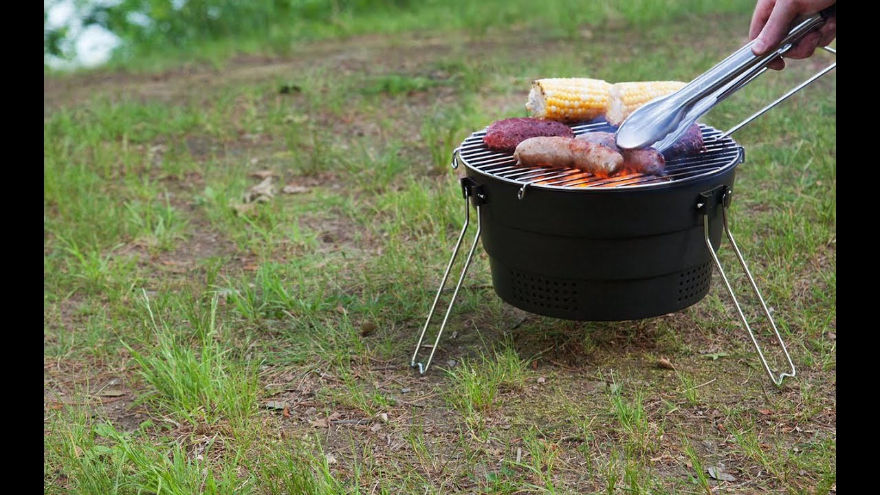 Snowline Pop Up Grill Fire Charcoal BBQ Portable Compact Outdoor Camping