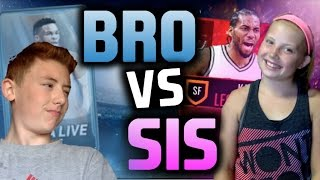 BROTHER VS SISTER PACK WARS - NBA LIVE MOBILE EDITION! SOUR WARHEAD WAGER
