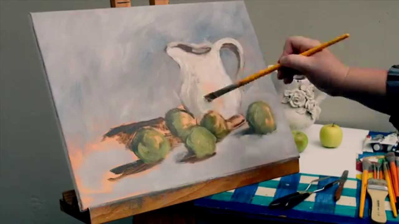 Painted canvas speed painting still life with apples and vase painted canvas speed painting still life with apples and vase youtube reviewsmspy