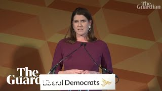 'Devastated': Jo Swinson apologises to Lib Dems for election failure
