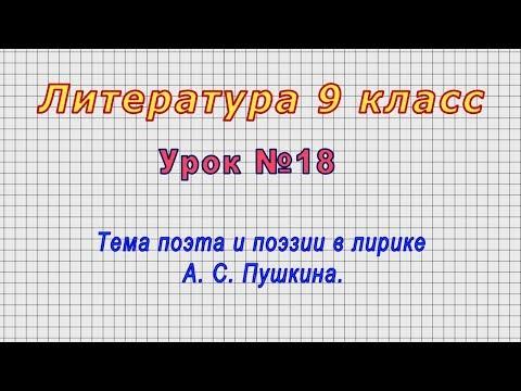 Литература 9 класс (Урок№18 - Тема поэта и поэзии в лирике А. С. Пушкина.)