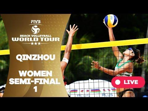 Qinzhou 3-Star - 2018 FIVB Beach Volleyball World Tour - Women Semi Final 1