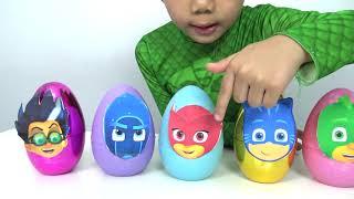 Disney PJ Masks Surprise Eggs Opening Fun With Gekko Catboy Owlette Kinder Joy Toys TBTFUNTV