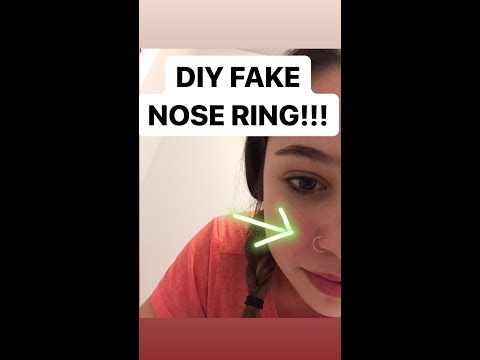 How to make a nose ring out of paper clip tik tok