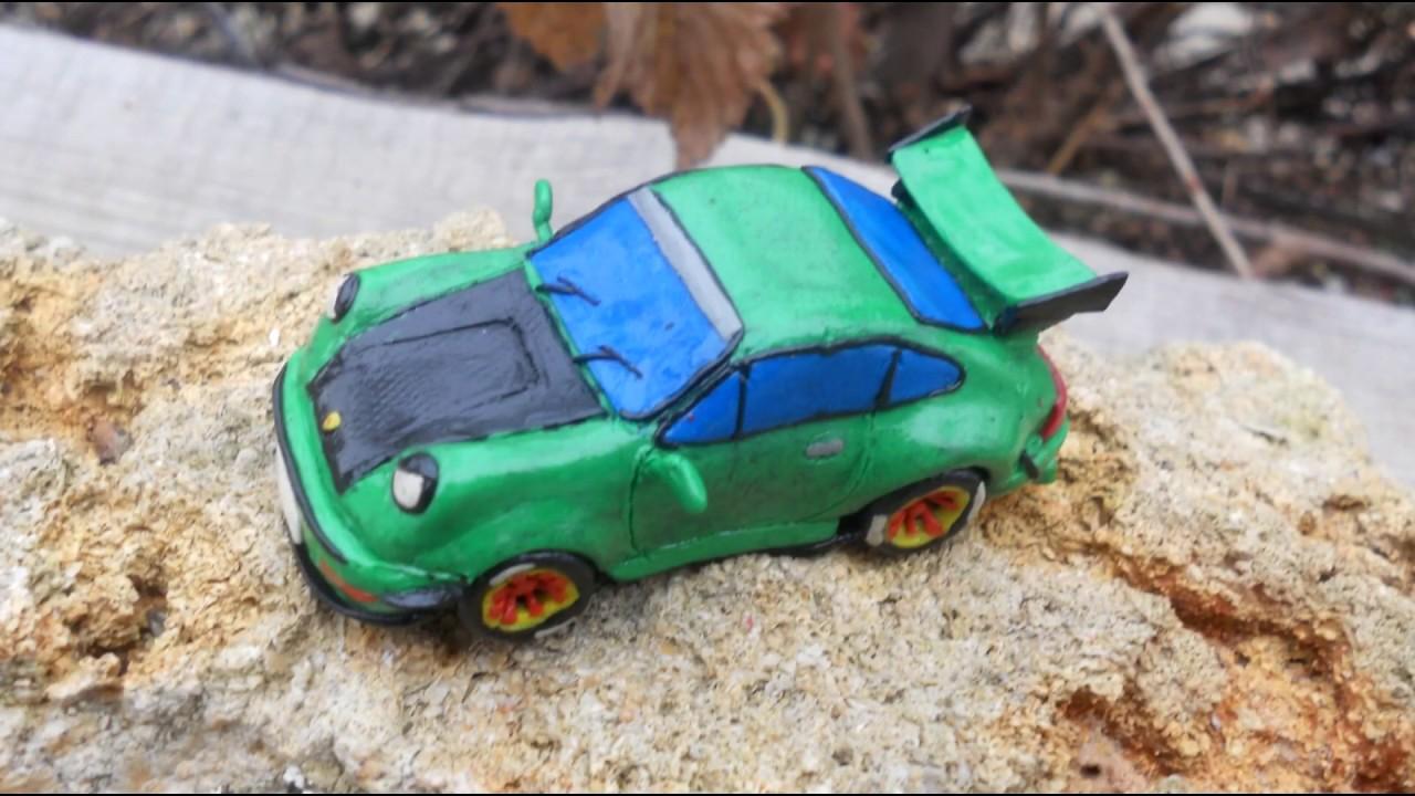 Картинка кабриолета из пластилина