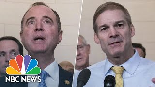 Adam Schiff Jim Jordan React After First Public Impeachment Hearing  NBC News