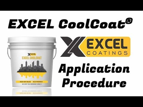 EXCEL CoolCoat® - Heat Reflective Cool Roof Coating, Summer cool paint,  High SRI/Albedo Roof Paint