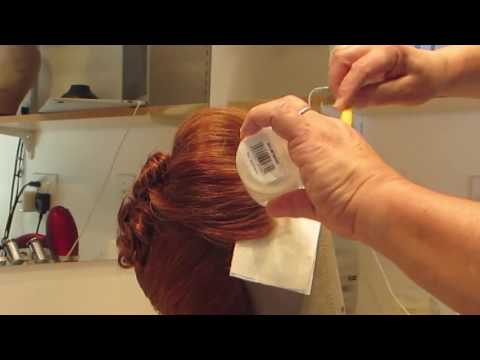 How to clean glue and makeup from the lace of a wig