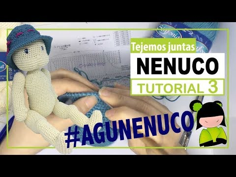 Nenuco amigurumi 3 | hoy como hacer nariz   | TEJEMOS JUNTAS?