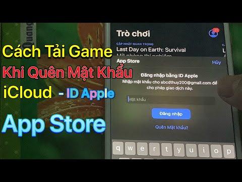 cách hack mật khẩu gmail khi biết tài khoản - Cách Tải Game Khi Quên Mật Khẩu icloud - ID Apple - App Store