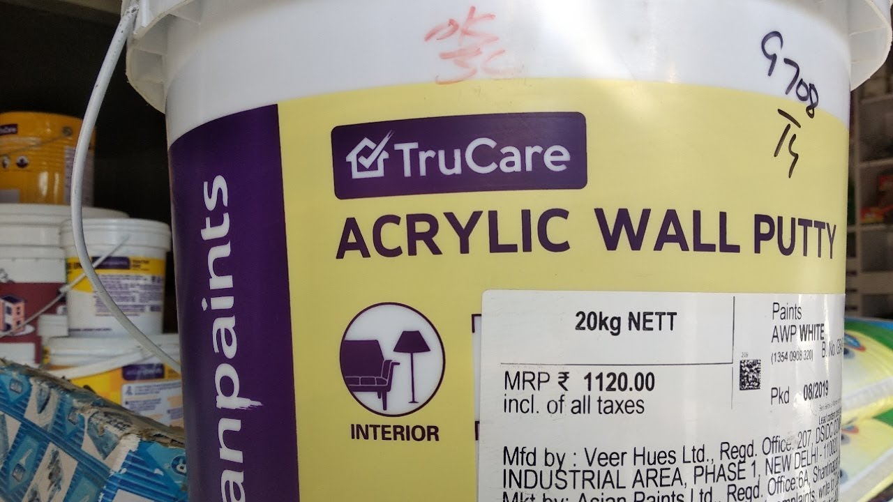 Acrylic Wall Putty Asian Paints Interior Youtube