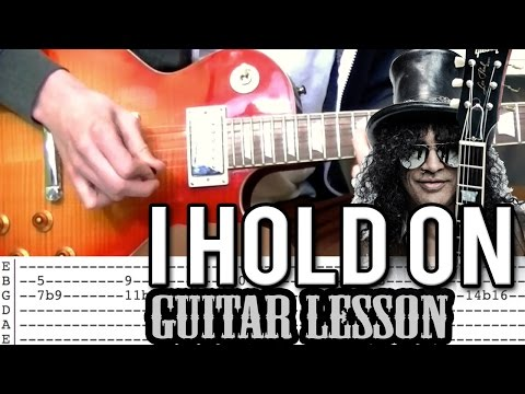 Slash ft. Kid Rock - I Hold On FULL Guitar Lesson (With Tabs)
