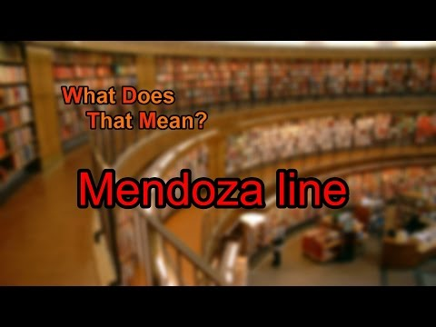 What Does Mendoza Line Mean?