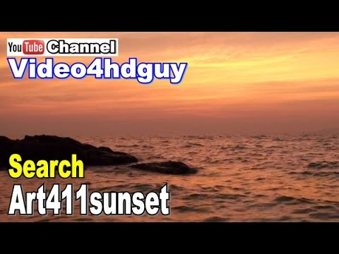 Sunset HD Screensaver peaceful ocean relaxing, nature sound Video SS05 | art411sunset™  art411ocean™