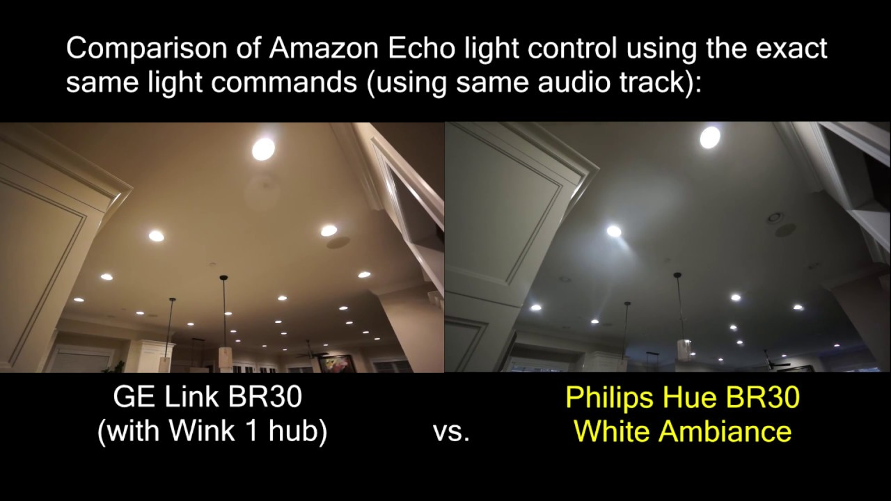 Philips Hue Br30 Ge Link Vs Philips Hue Lights Controlled By Amazon Echo