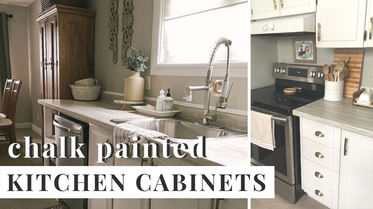 How To Chalk Paint Kitchen Cabinets Heyjuliarae Youtube