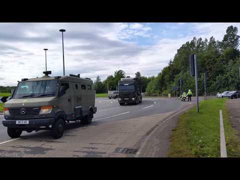 Nuclear weapons on Edinburgh bypass