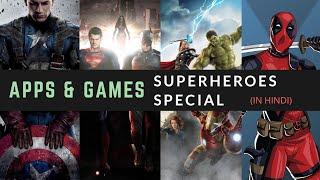 Best Superhero Apps & Games For Superhero Fans | #infinitywar Special in Hindi 🇮🇳