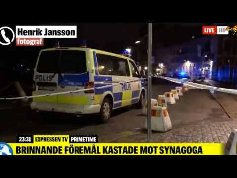 21 Masked Men Throw Molotov Cocktails at Synagogue in Gothenburg as Terrified Students Huddle Inside