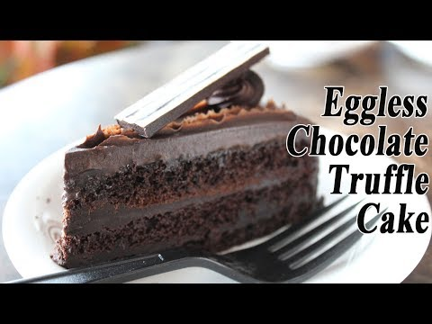 Chocolate Truffle Cake | Eggless Chocolate Dessert Recipe | Madhurasrecipe