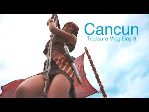 Pirate Ships & Beach Detecting. Cancun Vacation Vlog Day 3