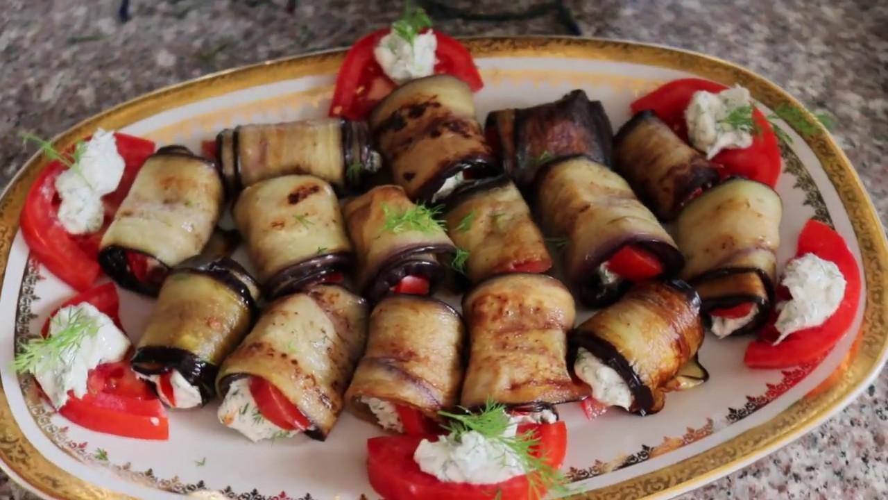 Рулетики из баклажан с сыром и чесноком/Быстрая закуска к празднику