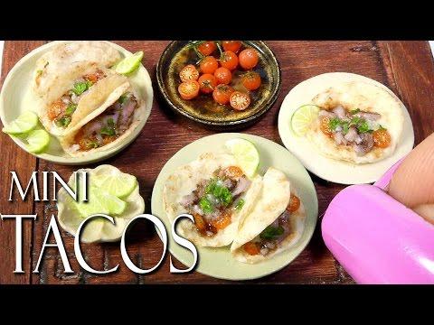 How To Mini Mexican Taco Tutorial // DIY Miniature Food www.sugarcharmshop.dk