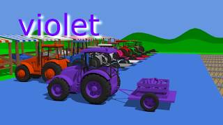 #Colors for Children to Learn with Farm Vehicles - and other Colorful Vehicles | Kolorowe Pojazdy