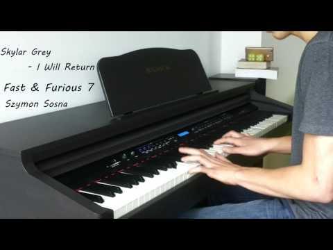 Skylar Grey - I Will Return Piano  Fast & Furious 7 🎹