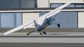 Plane Gets Blown Off The Runway