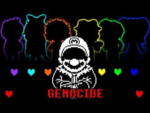 UnderBros Genocide: Mario fight (Animacion)