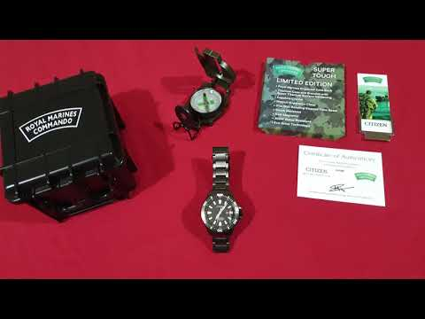 Citizen Royal Marines Commandos Limited Edition Watch BN0147 57E