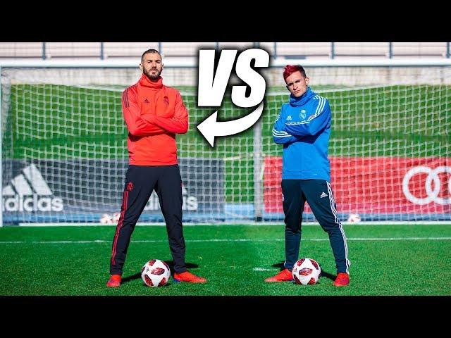 KARIM BENZEMA VS DELANTERO09 - Retos de Fútbol