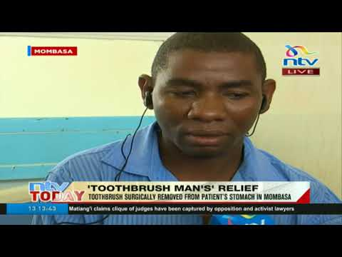 Man who swallowed toothbrush narrates on the ordeal