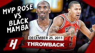 MVP Derrick Rose vs Kobe Bryant UNREAL XMAS Duel Highlights 2011.12.25 - MUST WATCH!