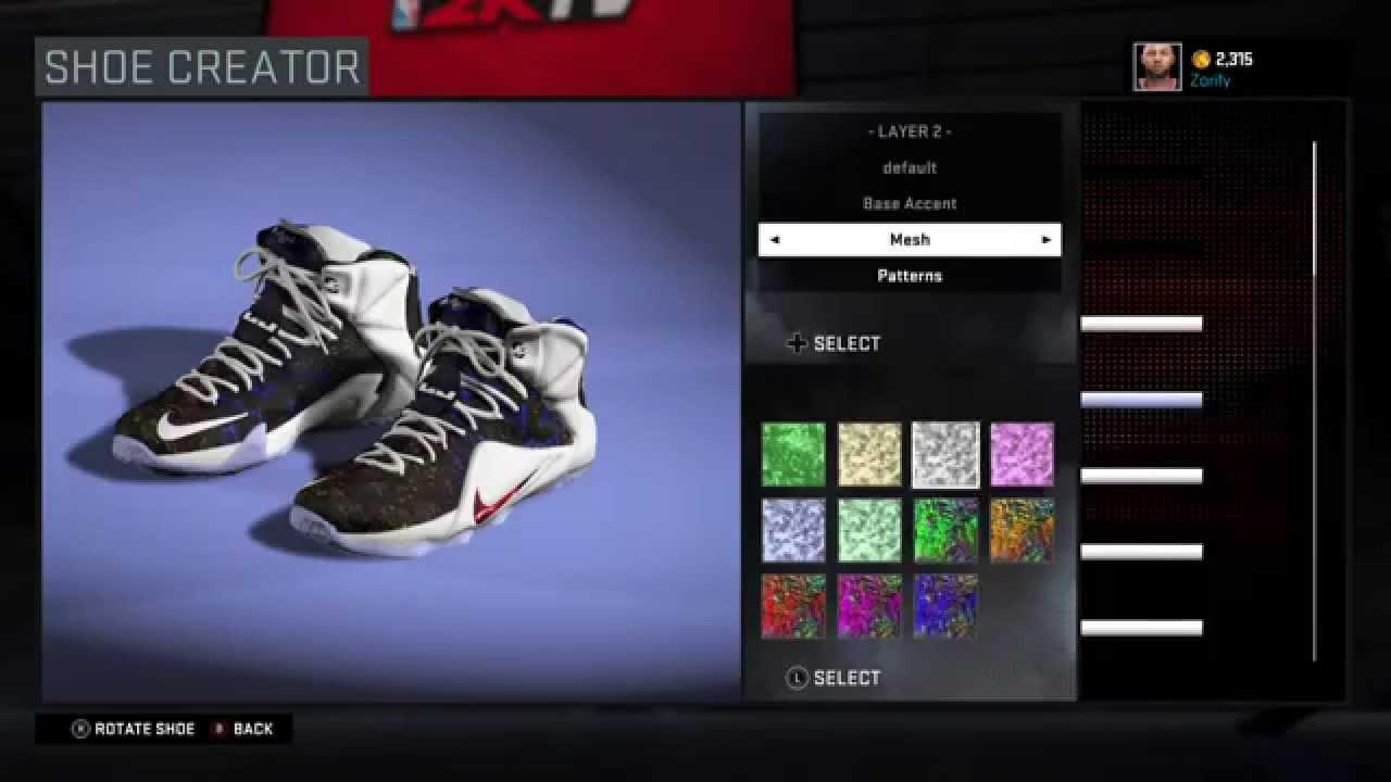 new product 37a1a dcbda NBA 2K16 Shoe Creator - Nike LeBron 12