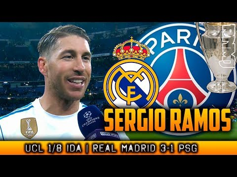 SERGIO RAMOS post Real Madrid 3-1 PSG   Champions League (14/02/2018)