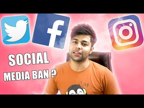 WILL Facebook, Twitter, Instagram & YouTube BE BANNED IN INDIA ??😥
