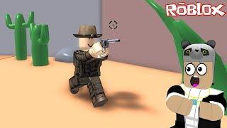 Kovboy Kasabasından Kaçış!! - Panda ile Roblox Wild West Obby!!