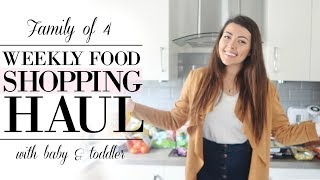 FAMILY FOOD HAUL | BIG WEEKLY SHOP | FAMILY OF 4 - BABY & TODDLER | VLOGTOBER #12