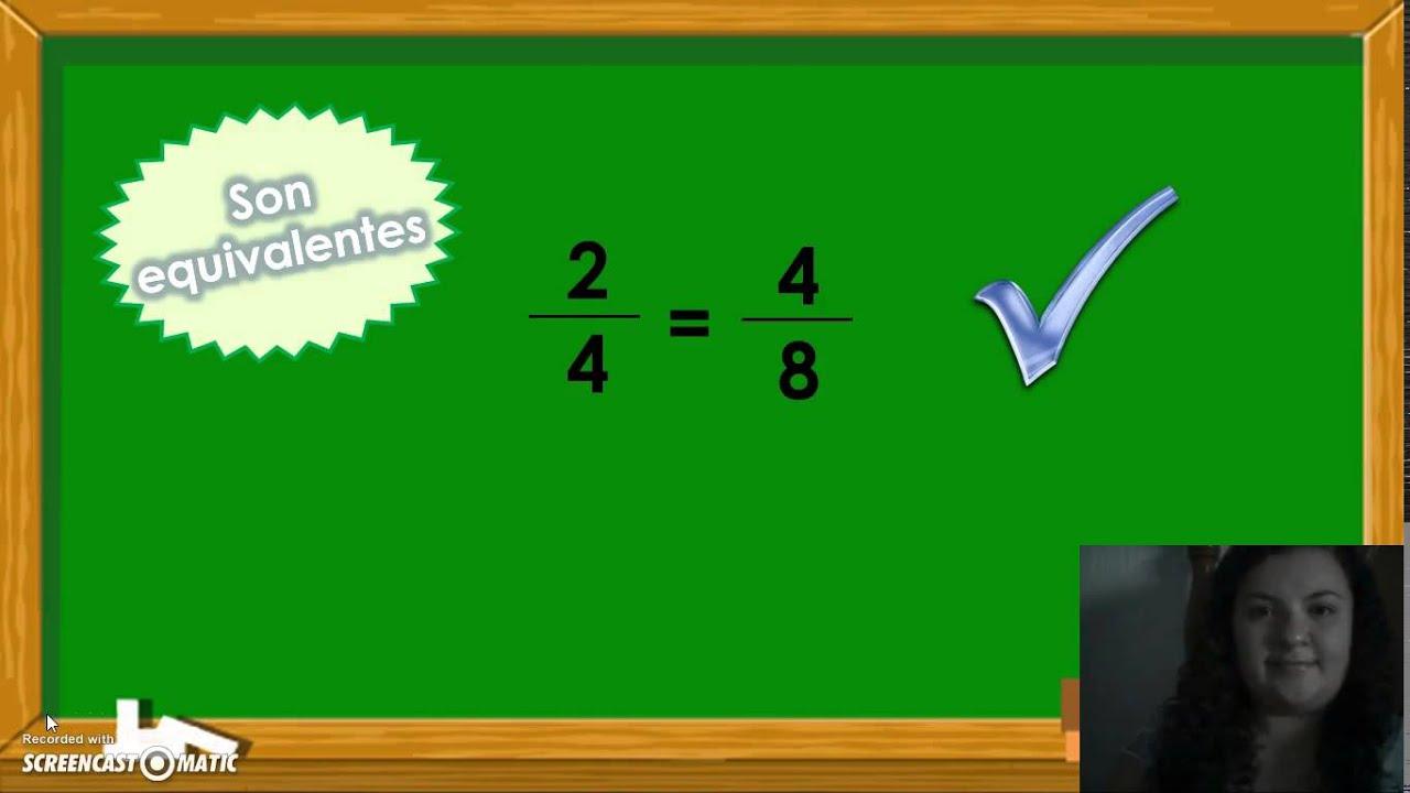 Fracciones equivalentes- 4° grado - YouTube