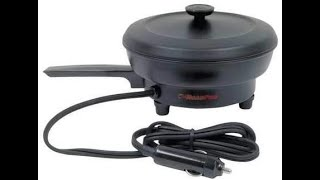 Cook with the RoadPro 12 volt Frying Pan while Camping