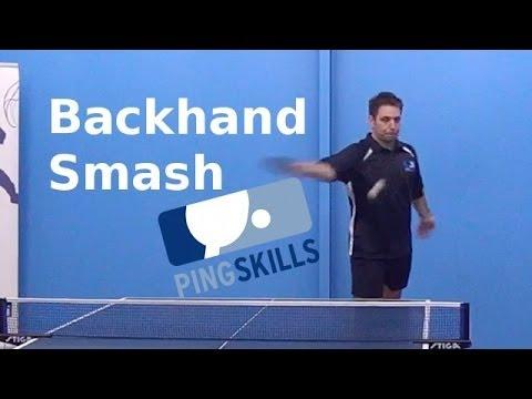 Backhand Smash Table Tennis Pingskills Youtube