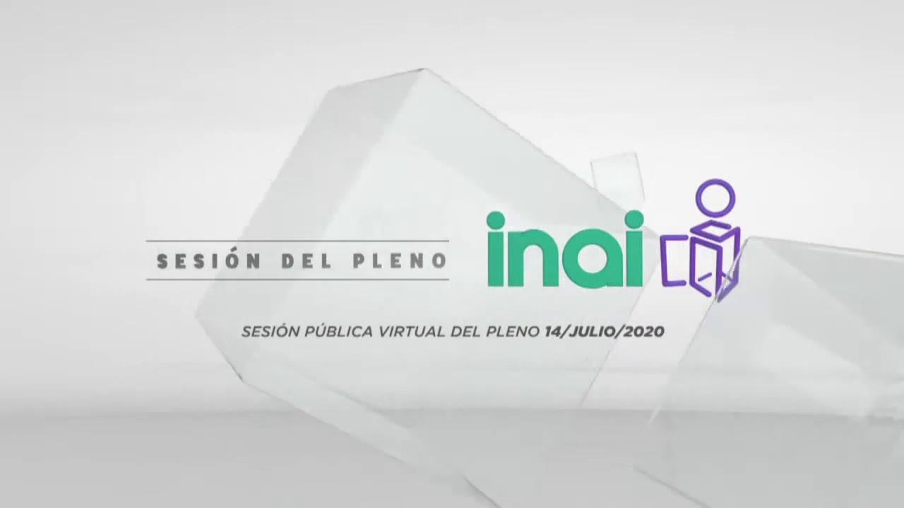 Sesión Pública Virtual del 14 de julio de 2020.