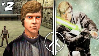 Meeting Luke Skywalker at his Jedi Temple - Star Wars Jedi Knight Jedi Outcast 2 Part 2